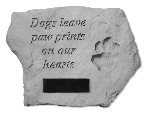 Dogs Leave Paw Prints Personalized Memorial Marker