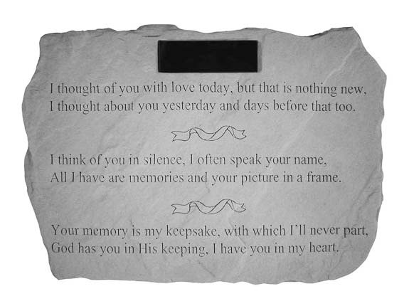 I Thought Of You Memorial Stone