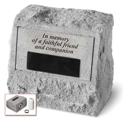 Faithful Friend Personalized Headstone Urn