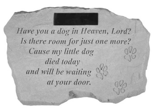 Dog In Heaven Personalized Memorial Stone