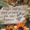 Dogs Leave Paw Prints Memorial Stone