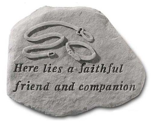 Faithful Friend Dog Memorial Marker