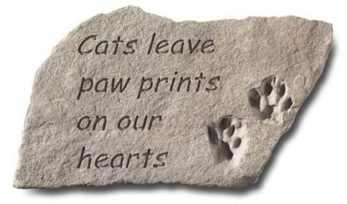Cats Leave Paw Prints Memorial Stone