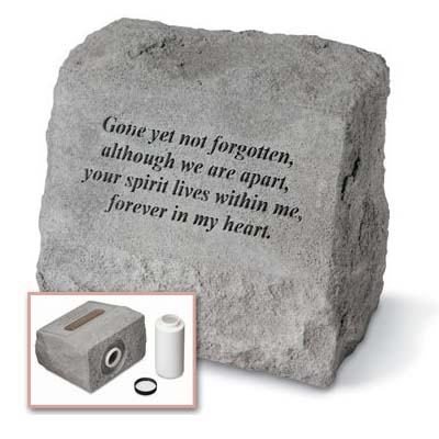 Gone Yet Not Forgotten Grave Marker Urn