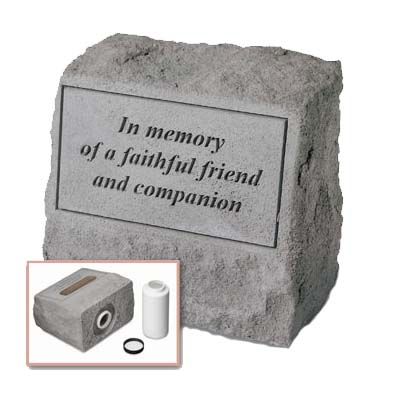 Faithful Friend Grave Marker Urn