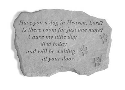 Dog In Heaven Memorial Stone