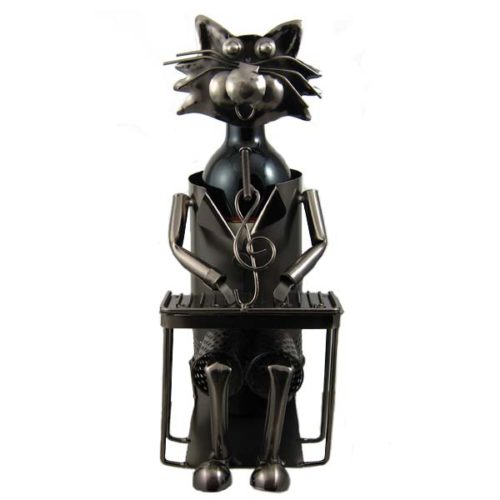 Cat Musician Bottle Holder