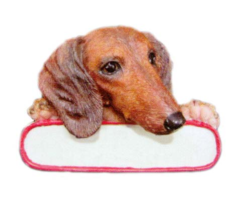Red Dachshund Ornament