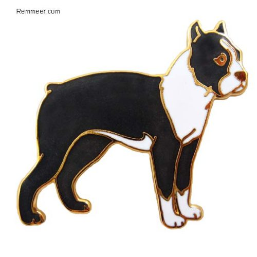 Boston Terrier Brooch Pin
