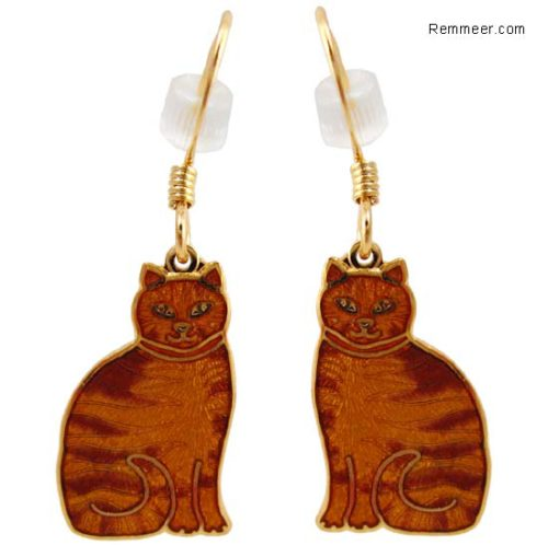Orange Tabby Cat Earrings