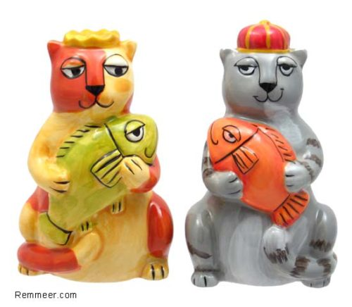 Cats Crowns S&P Shaker Set