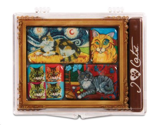 Long Haired Cats Magnet Set