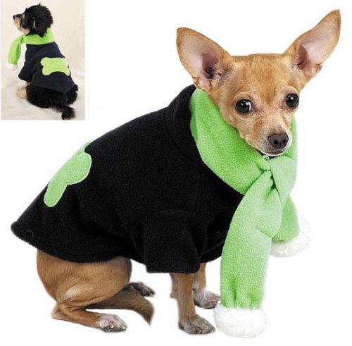 Fleece Bone Dog Coat