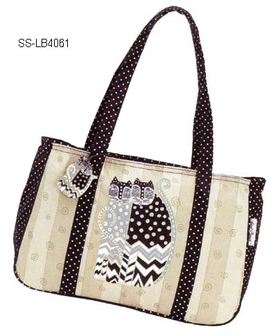 Dotted Cat Shoulder Tote