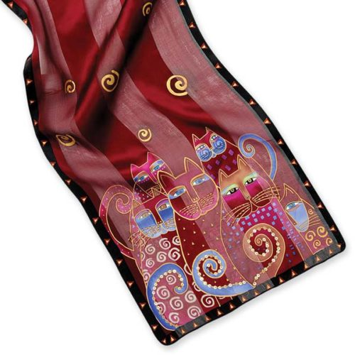 Crimson Cats Scarf