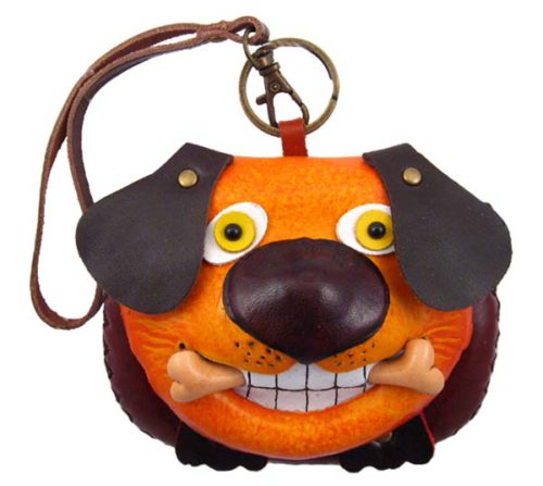 Dog Leather Wristlet