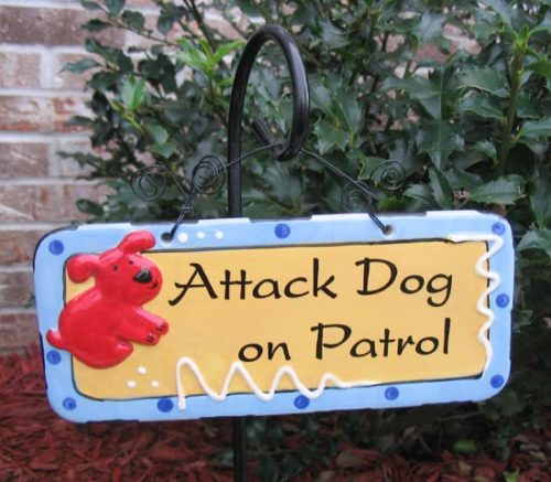 Attack Dog Sign